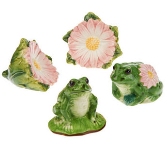 4-piece Frog & Daisy Salt & Pepper Shakers by Valerie - H199158