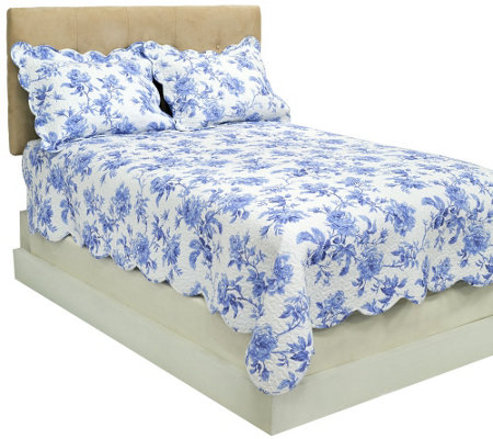 Harborside Floral 100% Cotton Queen Reversible