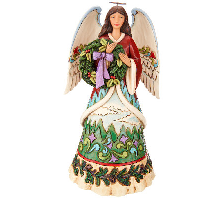 "Jim Shore Heartwood Creek ""Christmas Joy is Evergreen"" Angel Figurine"