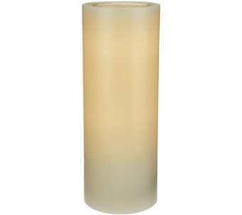 "ED On Air 9"" Dual Flame Wax Pillar Candle by Ellen DeGeneres - H209558"