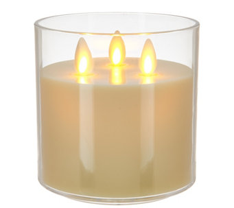 Luminara Tri-Wick Rechargeable Candle - H209758