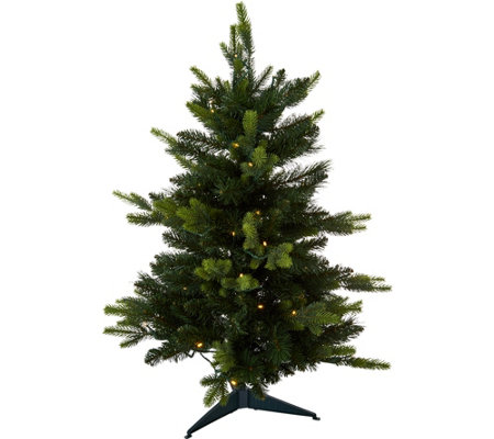 "Bethlehem Lights Prelit 34"" Green Stake Tree"
