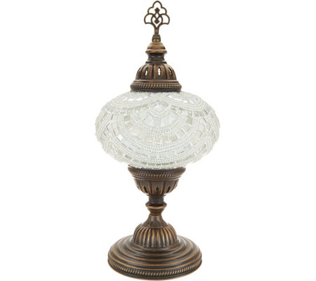 "Mosaic Lamps NYC 15-1/2"" Mosaic Table Lamp w/ Brass Base"