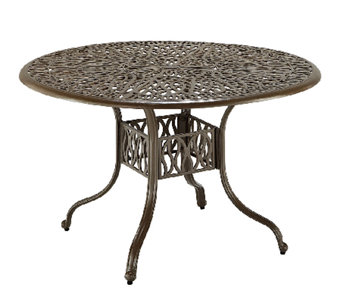 "Home Styles Outdoor Floral Blossom 42"" Round Dining Table - H284358"