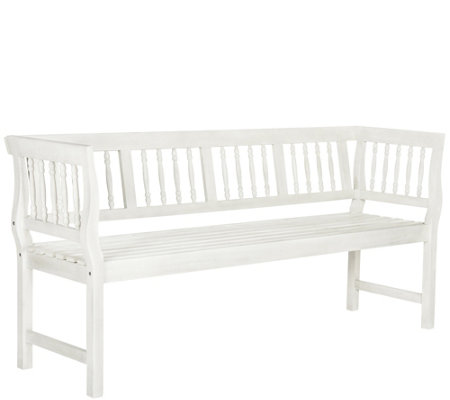 Safavieh Brentwood Outdoor Bench Qvc Com