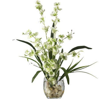 "19"" Orchid Silk Flower Arrangement by Nearly Natural"