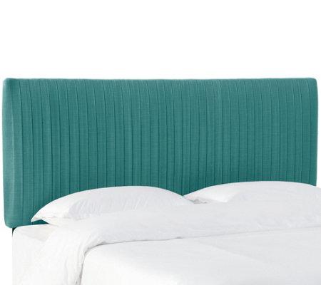 skyline furniture linen pleated full headboard qvc com