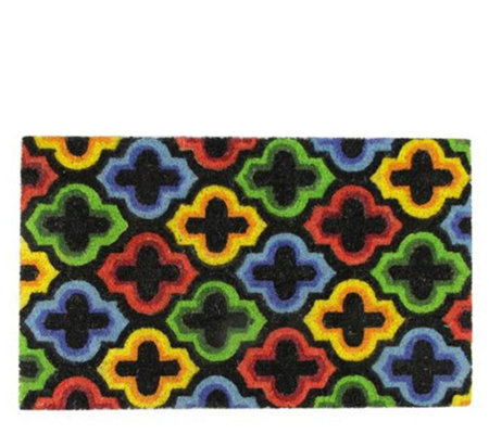 "Northlight 29-1/2"" x 17-3/4"" Multicolor Retro Door Mat"
