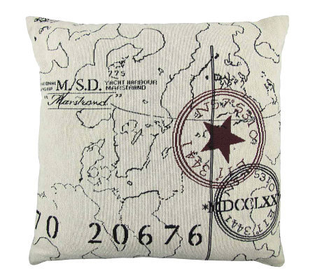 Vintage House World 18 x 18 Tapestry Pillow