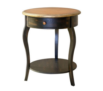 Emma Round Side Table with Drawer - H361158