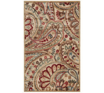 "Nourison Reflections 3'6"" x 5'6"" Paisley Machine Made Rug - H366858"