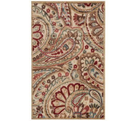 "Nourison Reflections 3'6"" x 5'6"" Paisley Machine Made Rug"