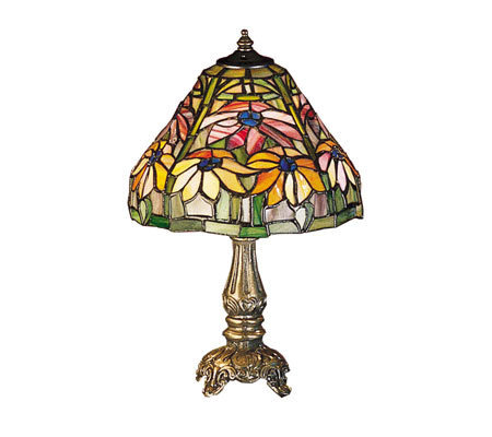 "Tiffany Style 13"" Poinsettia Mini Lamp"