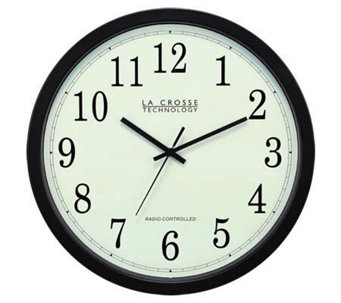 "La Crosse WT3143A 14"" Radio Controlled Analog Clock - H122559"