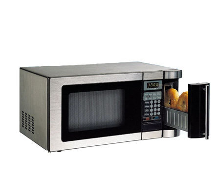 Daewoo 1000w compact microwave oven w built in2 slot for Small built in microwave oven