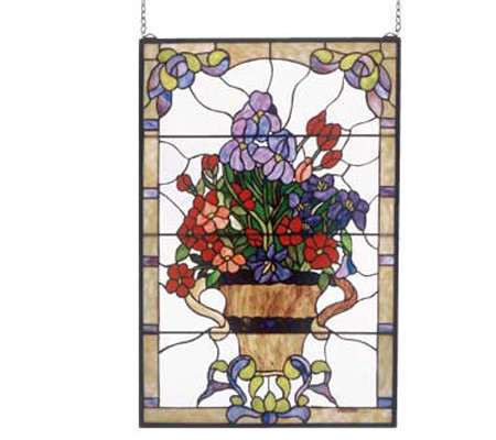 Meyda Tiffany Style Floral Arrangement Window Panel