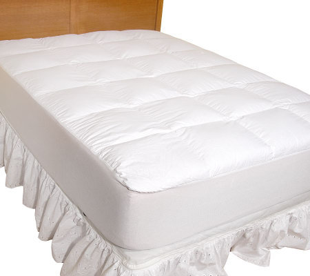 Northern nights fl pillow top 550 fp down mattress pad w for Best down mattress pad