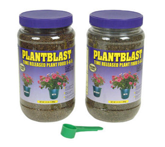 Plantblast Time-Released Plant Food - Set of 21.8 lb Jars - H139859