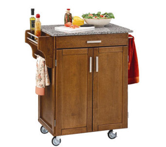 Home Styles Small Wood Create a Cart w/ GraniteTop - H145359