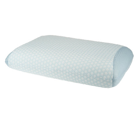 SensorPedic STD Ventilated Memory Foam Pillow w/ Dual Gel Overlay