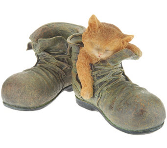 Sleeping Puppy or Kitten in Boots by Valerie - H202359