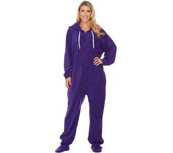Forever Lazy One-Piece Fleece Footed Adult Pajamas With Pockets - H210159