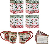 Temp-tations Holiday Set of 4 Mugs with Lid and Gift Box - H212359
