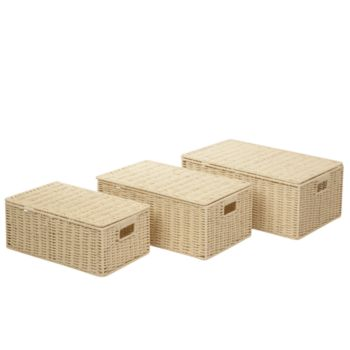 Honey-Can-Do Set of 3 Parchment Cord Boxes