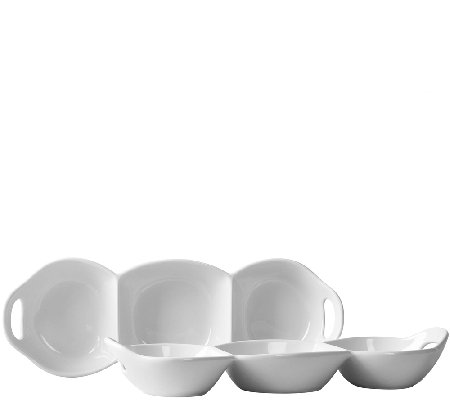 Tabletops Gallery 3-Section Condiment Tray Set- Set of 2