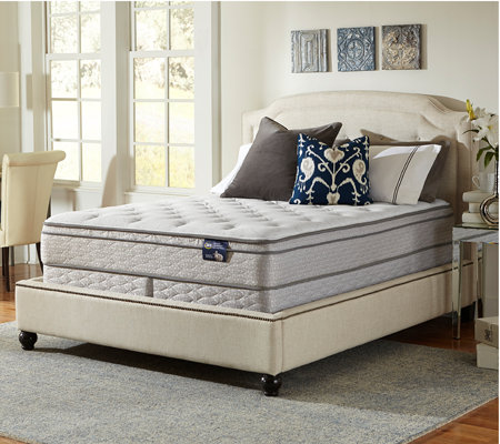 Serta Glisten Euro Top California King Mattress Set