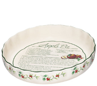 Pfaltzgraff Winterberry Pie Plate w/ Recipe - H287159