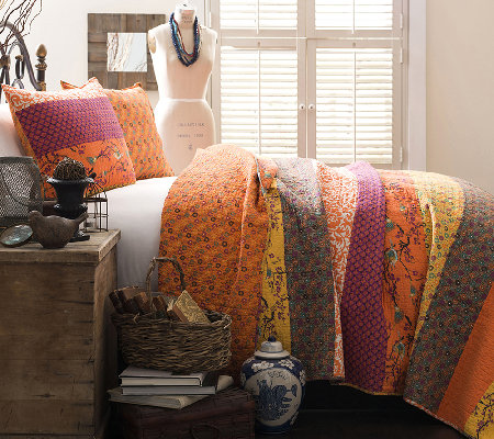 Royal Empire 3-PC Tangerine Full/Queen Quilt Set by Lush Decor