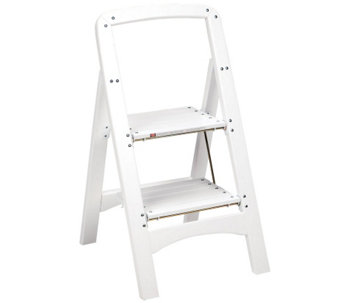 Cosco 2-Step White Wood Stool - H287859
