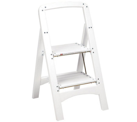 Cosco 2-Step White Wood Stool