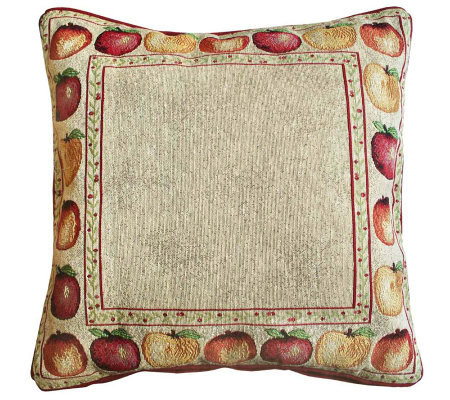 Qvc Decorative Pillows : Apple Variety 18x18 Tapestry Decorative Pillow ? QVC.com