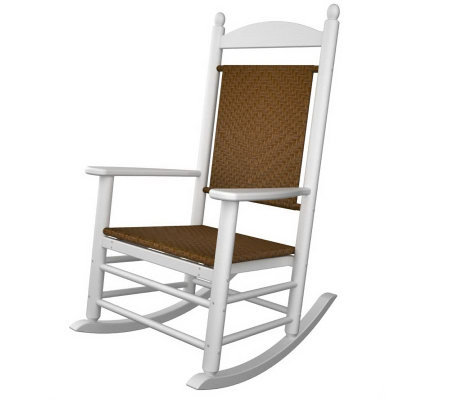 POLYWOOD Jefferson Rocker with Woven Weaveon Seat & Back
