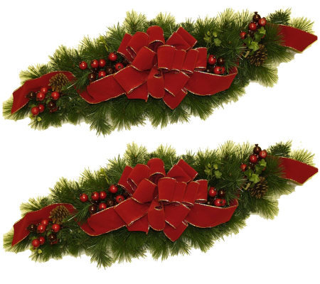 Set of 2 Holiday Swags by Valerie