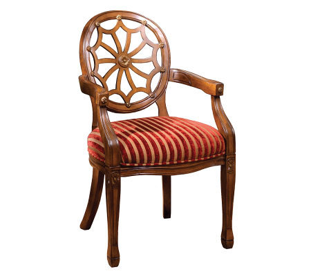 Edinburgh Antiqued Oak Finish Accent Chair