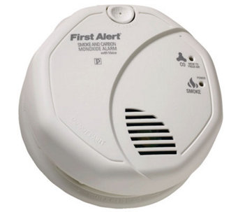 First Alert Smoke/Carbon Monoxide Alarm w/ Voice Location - H363759