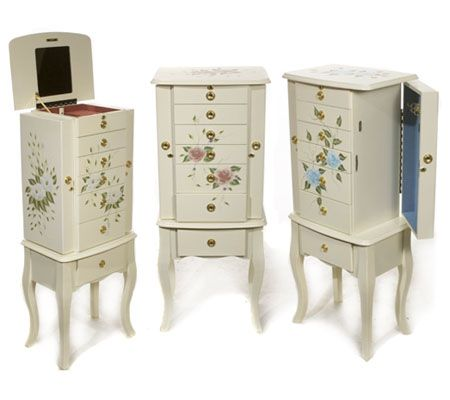 As Is Thomas Pacconi Handpainted Jewelry Armoire QVCcom