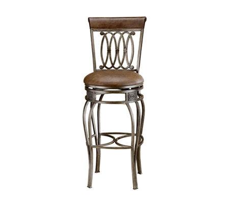 Hillsdale Furniture Montello Swivel Bar Stool Qvc Com