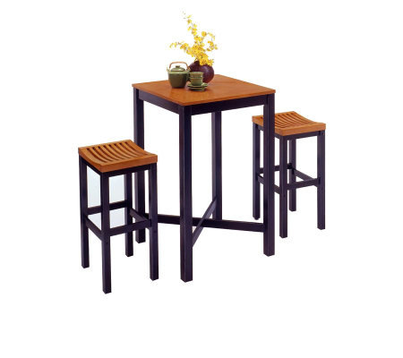 Home Styles Bar Stool - Black with Oak Seat
