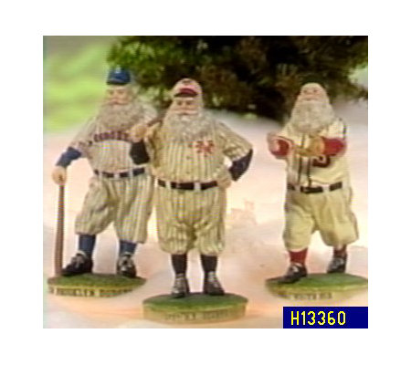 Choice of Cooperstown Santa Figurines