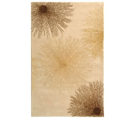 "Soho 9'6"" x 13'6"" Abstract Handtufted Wool/Viscose Blend Rug"