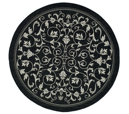 "Safavieh Courtyard Heirloom Gate 6'7"" Round Rug"