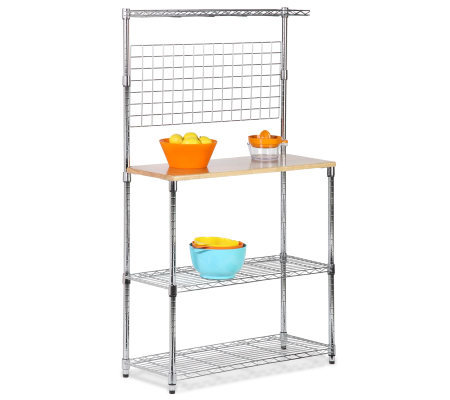 Honey-Can-Do Chrome 2-Shelf Urban Baker's Rack