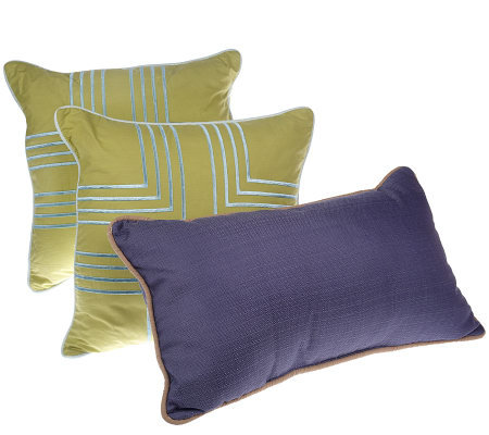 Qvc Decorative Pillows : Thom Filicia Set of Three Woven Dream Decorative Pillows - Page 1 ? QVC.com