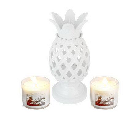 Bath Amp Body Works Tropical Ceramic Luminary W 2 4oz