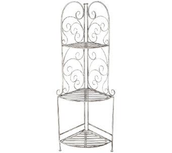 3-Tier Folding Corner Shelves by Valerie - H204960