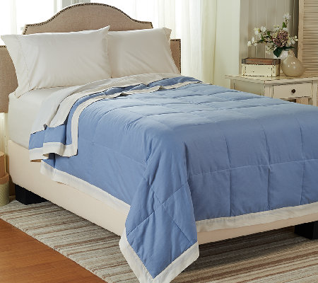 Northern Nights 550 Fill Power Lightweight Linen & Cotton QN Down Blanket